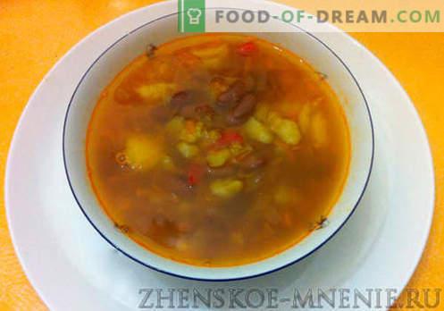 Sopa com feijão rústico - receita com fotos e descrição passo a passo