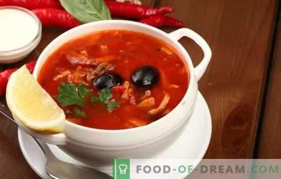 Solyanka com carne de porco: variações de sopa tradicional com carne de porco, repolho, cogumelos. Como fazer solyanka com batatas e arroz?