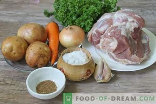 Shurpa de porco - um primeiro curso saudável e rico