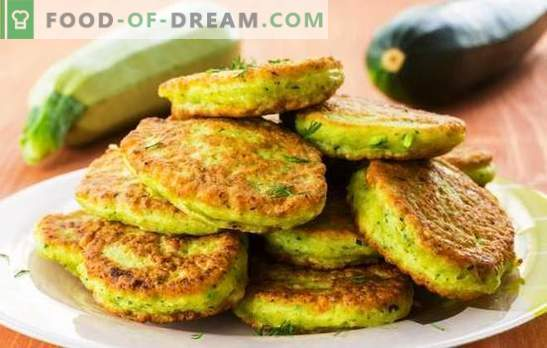 Bolinhos de medula vegetais - saborosos, rápidos e baratos. Panquecas de abóbora na frigideira e no forno