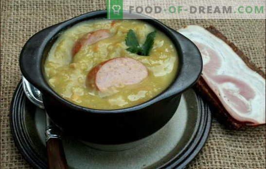 Sopa holandesa - muito sabor! Receitas de diferentes sopas holandesas: ervilha, legumes e carne, com almôndegas e bacon