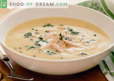 Sopa de creme de frango - as melhores receitas. Como corretamente e deliciosamente cozinhar sopa de galinha.