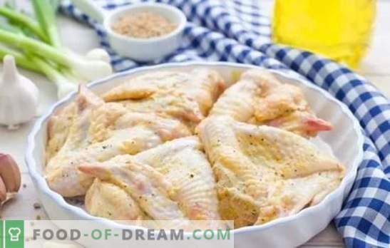 Asas em maionese com diferentes molhos. Rapidamente, saboroso, festivo, sempre de uma nova maneira - receitas de asas de frango em maionese