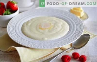 Mingau de semolina no leite - bom dia! Como cozinhar a semolina no leite, para que o mingau se mostrasse saboroso e sem nódulos