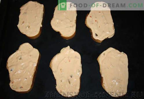 Sanduíches quentes - uma receita com fotos e descrição passo a passo.