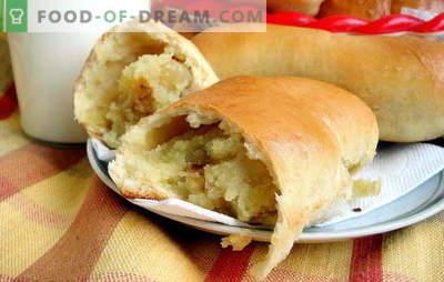Tortas de batata com fermento - como nas cidades e aldeias! Receitas de batata frita e assada com fermento