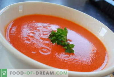 Tomatensoep - de beste recepten. Hoe tomatensoep goed te bereiden en te koken.