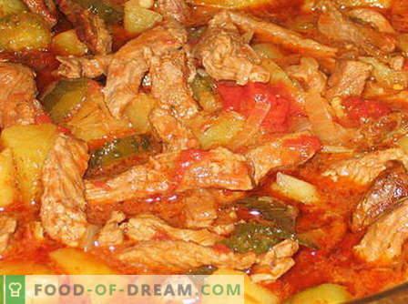 Azu de carne - as melhores receitas. Como cozinhar corretamente e saboroso de carne