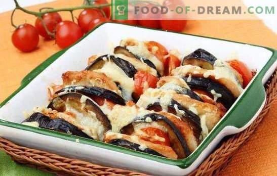 Caçarola de abobrinha e berinjela no forno - um segundo útil. Caçarolas de abobrinha e berinjela de receitas no forno com queijo, carne picada, peito de frango