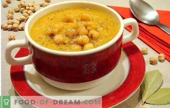 Suppe mit Kichererbsen - orientalische Noten im Alltagsmenü. Alte und neue Rezepte einer schmackhaften, aromatischen und ungewöhnlichen Suppe mit Kichererbsen