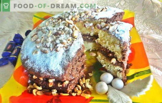 """Delicioso bolo para qualquer celebração, o tão esperado - Snickers! Foto-receita de cozimento passo a passo do bolo """"Snickers"""""""