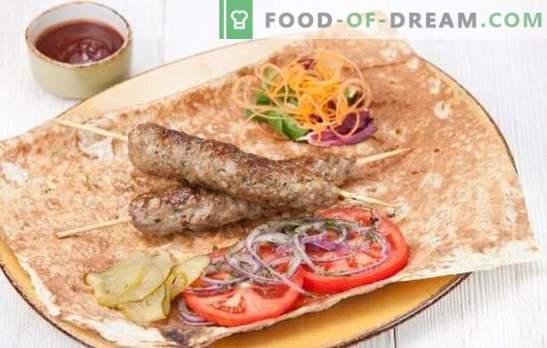 Kebab em casa é fácil! Kebab caseiro de porco, cordeiro, peru, frango ou carne de bovino