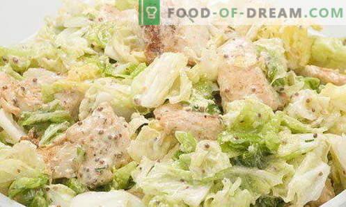Salada Caesar - as receitas e ingredientes certos. Como preparar o molho (molho) para a salada