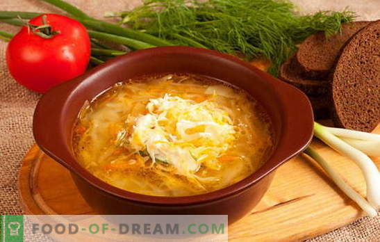 Peculiaridades da sopa russa de chucrute: receitas. Quantas donas de casa - tantas opções chucrute repolho