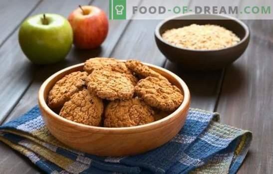Biscoitos de aveia magra - uma sobremesa útil e saborosa. Como fazer biscoitos de aveia magra com bananas, mel, frutas secas, nozes