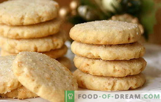 Biscoitos em creme azedo - caseiro ficará encantado! Receitas simples creme azedo biscoitos com cacau, passas, nozes, queijo cottage, leite condensado