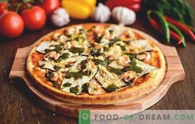 Pizza de berinjela - não importa como você cozinha, sempre um pouco! Receitas para pizza com berinjela e queijo, tomate, cogumelos, salsicha