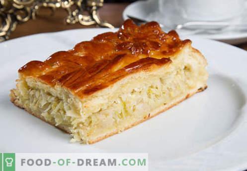 Kulebyaka com repolho - as melhores receitas. Como corretamente e saboroso cozinhar torta com repolho.