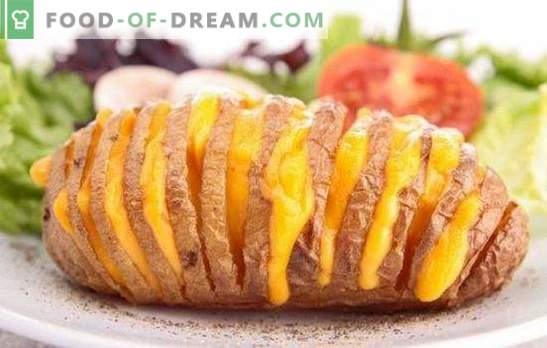 Küpsetatud kartulid juustuga ahjus on uskumatult maitsev roog. Parimad retseptid küpsetatud kartulite valmistamiseks juustuga