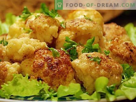 Couve-flor em massa - as melhores receitas. Como corretamente e saborosa couve-flor cozida em massa.