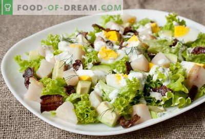 Suitsukala salat - parimad retseptid. Kuidas korralikult ja maitsev suitsukala salatit valmistada.