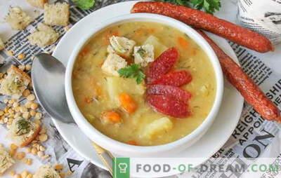 Sopa de ervilha em um fogão lento (foto): tecnologia em guarda para o almoço. Foto-receita passo a passo: sopa de ervilha em um fogão lento. Nós olhamos!