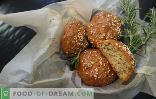 Bolos de centeio - para uma alimentação adequada, saborosa e saudável! Receitas de pão de centeio na água, iogurte, leite, com farelo, cebola e gergelim