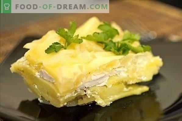 Peito de frango com batatas não é fácil, mas é muito simples! Ensopados, guisados, pãezinhos, zrazy e outras receitas de peito de frango e batata