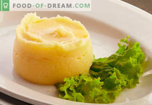 Purê de batatas são as melhores receitas. Como corretamente e deliciosamente cozinhar purê de batatas.