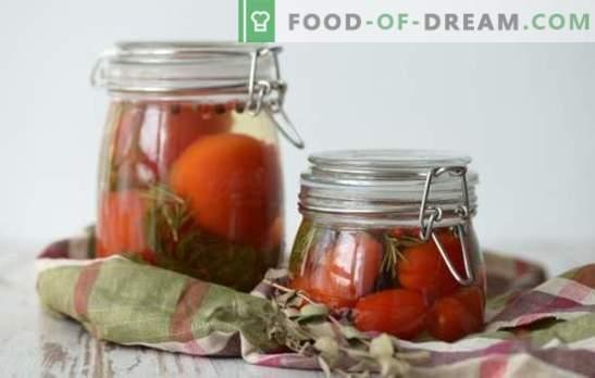 Marinada para tomates - o personagem principal do tomate em branco! Receitas de marinadas deliciosas para tomates: com vinagre, aspirina, vodka