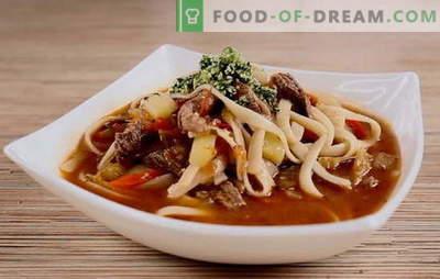 Oezbeekse soep is een betaalbare exoot. Kenmerken van de bereiding van Oezbeekse lams soep, Oezbeekse noodlesoep: recepten