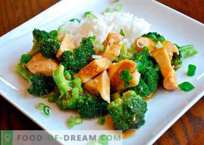 Frango com brócolis - as melhores receitas. Como corretamente e saboroso cozinhar frango com brócolis.
