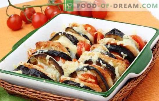 Legumes com queijo - não deixe de cozinhar! Legumes com queijo, assados no forno com frango, carne, cogumelos, arroz