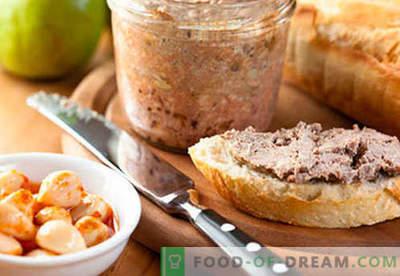 Patê de fígado de porco - as melhores receitas. Como corretamente e saboroso cozinheiro patê de fígado de porco.