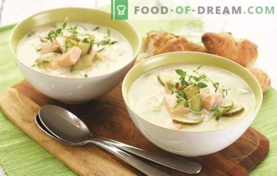 Orelha de salmão com creme é um charme delicioso! Receitas de sopa finlandesa com creme - segredos de saúde e sucesso dos antigos Vikings