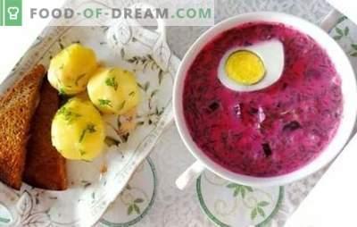 Geladeira de beterraba: uma receita passo a passo para a sopa de verão. Receitas passo-a-passo fáceis e refrescantes do holodnik a partir de beterrabas frescas e decapadas