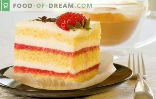 Biscuit de manteiga - bolos caseiros perfumados! Opções manteiga biscoito com cenoura, creme azedo e cacau