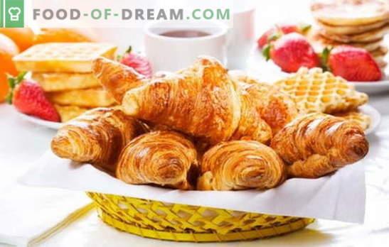 Croissants da massa final - salgados crocantes sem complicações. As melhores receitas para croissants da massa acabada: doce ou salgado