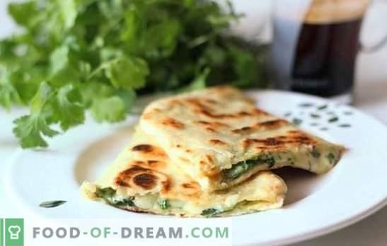 Pita com queijo em panela - panquecas preguiçosas! Receitas de recheios diferentes para pita frita com queijo em uma panela