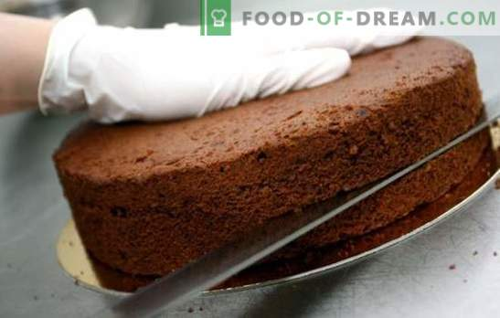 Bolos para bolos - receitas simples de biscoito, ar e massa de amêndoa. Bolos de bolo simples: segredos de cozinha