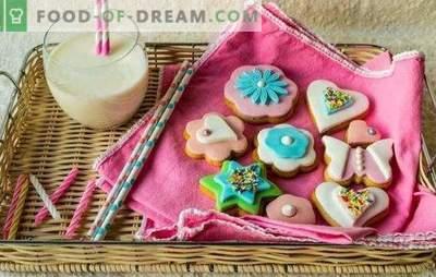 Esmalte colorido: espetacular, agradável aos olhos. Receitas de esmalte colorido e sobremesas com ele: biscoitos, amendoim, scones, bolo de iogurte