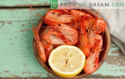 Как и колко да приготвяте скариди? Тънкости, тайни, рецепти за готвене за скариди, варени, замразени, неочистени, кралски и други