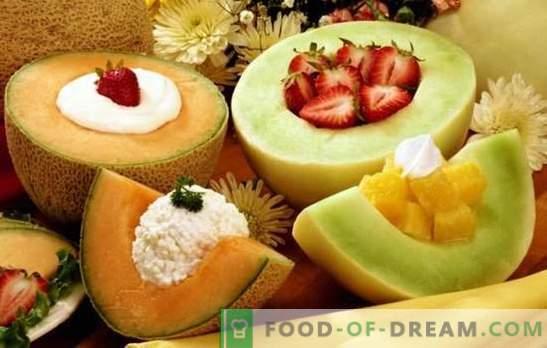 As sobremesas de melão são uma iguaria aromática para os dentes doces. Uma seleção das melhores receitas para sobremesas de melão