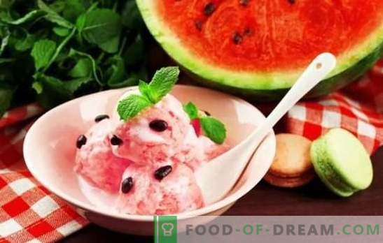 Sorvete de melancia - frescura de verão! As melhores receitas para sorvete de melancia com creme, leite, iogurte, melão, banana