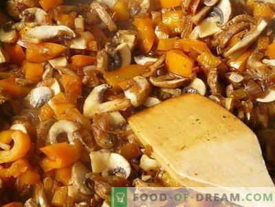 Cogumelos cozidos - as melhores receitas. Como cozinhar cogumelos cozidos e saborosos.