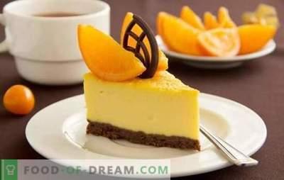 Sobremesa Citrus - para um bom humor! Cozinhar sobremesas cítricas incríveis com gelatina, queijo cottage, panificação