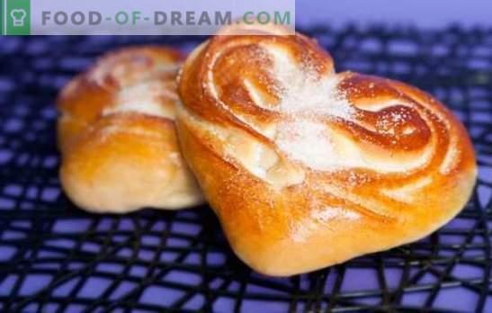 Bolos de coração - o aroma e sabor dos bolos caseiros. As melhores receitas de bolos de coração com açúcar, sementes de papoula, canela e outros