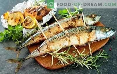 Cavala grelhada é a melhor receita para marinar e servir. Como cozinhar cavala na grelha com molhos picantes e picantes