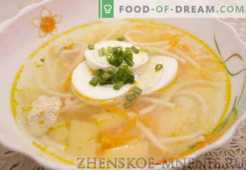 Sopa de Frango - Receita com fotos e descrição passo a passo