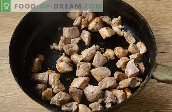pilaf de porco: não kosher, não dietético, mas surpreendentemente saboroso! Receita de foto passo a passo do autor de pilaf perfumado com carne de porco
